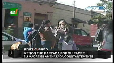 Tarija: Mujer rescata a su hija supuestamente raptada por su padre en Cochabamba