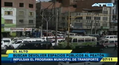 Alcaldesa de El Alto presentó el Programa Municipal de Transporte