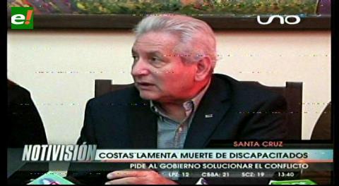 Costas lamenta la muerte de dos discapacitados, pide al Gobierno atender sus demandas