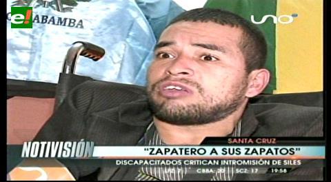 """Discapacitados critican intromisión del ministro Siles: """"Zapatero a tus zapatos"""""""