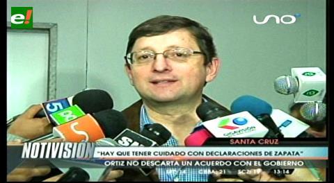 Senador Ortiz: «Hay que tener cuidado con las declaraciones de Zapata»