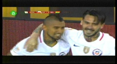 Chile 1-0 Bolivia: El chileno Arturo Vidal abre el marcador