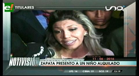 "Titulares de TV: Fiscal General dice que Zapata presentó un niño ""alquilado"" a una familia"