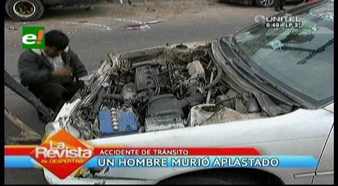 Hombre muere aplastado por un vehículo