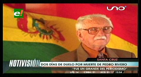 Duelo departamental  por el fallecimiento de Pedro Rivero Mercado