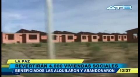 Gobierno revertirá 4 mil viviendas sociales