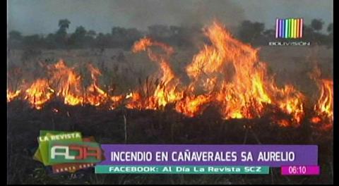 Bomberos logran controlar un incendio de pastizales en la avenida San Aurelio