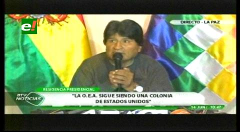 Morales: Bolivia piensa en retirarse de la OEA