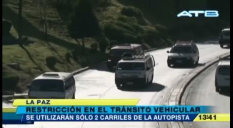 La Paz: Inician las obras de ampliación de la autopista