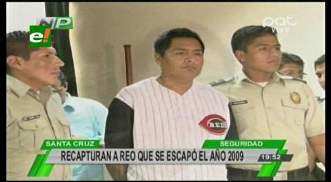 Policía presenta a reo que fugó de la cárcel en Potosí