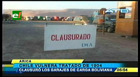 Clausuran garajes de carga boliviana en Arica