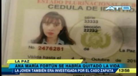 Se suicidó Ana María, la hermana de Ximena Fortún, actualmente detenida por caso Zapata