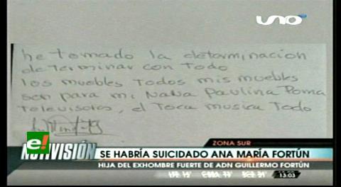 Ana María Fortún dejó una carta póstuma antes de suicidarse