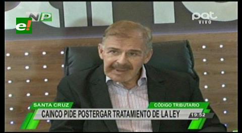 Cainco plantea postergar tratamiento de Ley del Código Tributario
