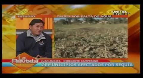 Campesinos se declaran en emergencia, la sequía afecta a 24 municipios