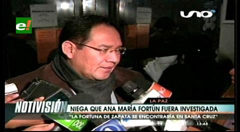 Fiscal General niega que Ana María Fortún fuera investigada por el caso Zapata