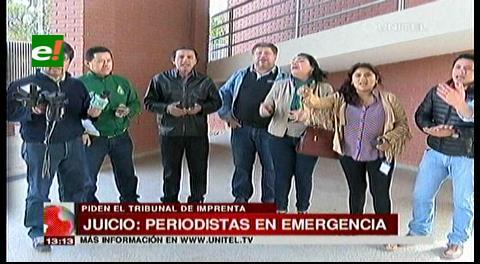 Periodistas cruceños en emergencia, piden un Tribunal de Imprenta