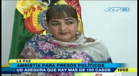 Senadora Gonzáles propone amnistía para presos políticos
