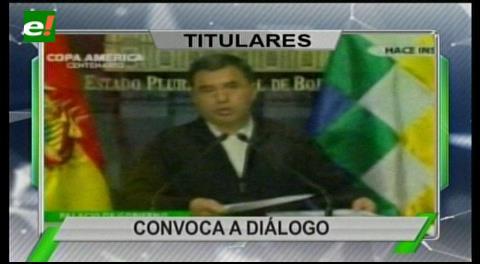Titulares de TV:  Gobierno convoca al diálogo a la COB para este domingo, analizarán el caso Enatex