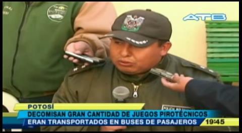 Potosí: Decomisaron 57 cajas de juegos pirotécnicos