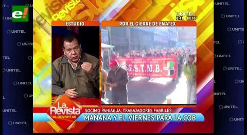 """Dirigente fabril sobre Rolando Borda: """"Nosotros no tenemos patrones"""""""