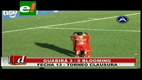 Guabirá sacó provecho y venció a Blooming 3-0
