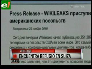 WikiLeaks reaparece en línea con dirección desde Suiza