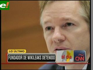Detienen a Julian Assange fundador de WikiLeaks