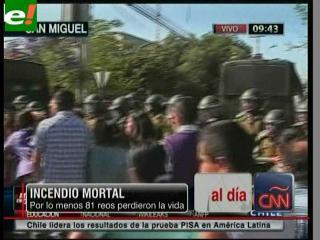 Al menos 81 muertos en el incendio de una cárcel en Chile