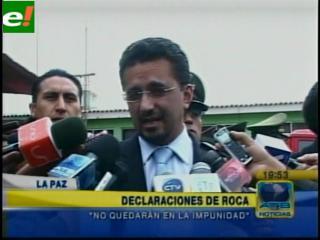 """Sacha Llorenti: """"Las declaraciones de Roca no quedarán en la impunidad"""""""