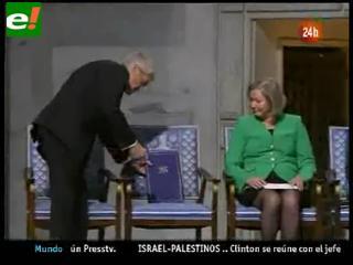 """Entregan Premio Nobel de la Paz 2010 a una """"silla vacía"""""""