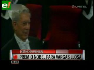 Vargas Llosa recibe el Nobel de manos del Rey