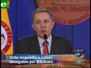 Álvaro Uribe confirma cable de WikiLeaks sobre Venezuela