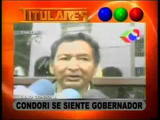 Condori se siente Gobernador
