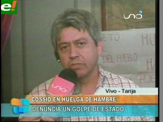 """Cossío: """"La huelga de hambre es en rechazo al golpe de Estado"""""""