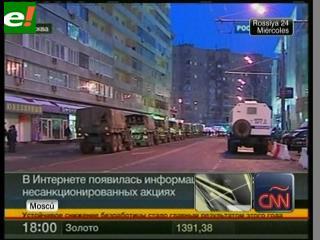 Policía rusa toma Moscú para sofocar protestas