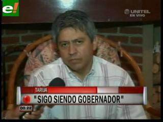 """Cossío rompe el silencio: """"Sigo siendo Gobernador de Tarija"""""""