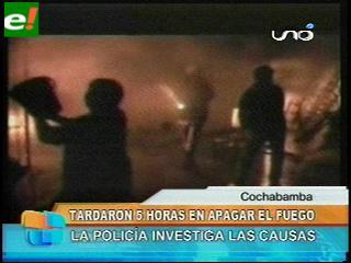 Incendio de magnitud en un mercado de Cochabamba