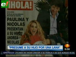 Paulina Rubio presenta a su primer bebé en exclusiva a revista ¡Hola!