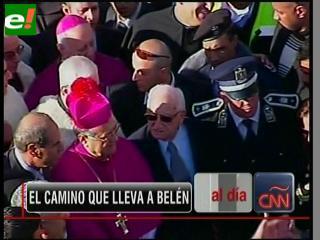Belén recibe al Patriarca Latino de Jerusalén en Nochebuena
