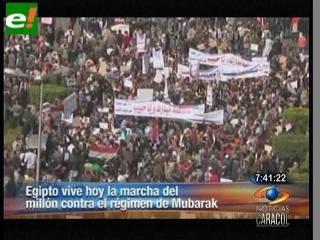 Los egipcios claman contra Mubarak en la 'marcha del millón'