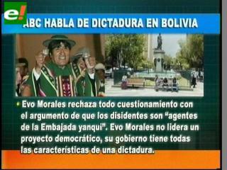 Diario ABC dice que Bolivia vive en dictadura