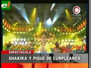 Shakira y Piqué unidos por su cumpleaños