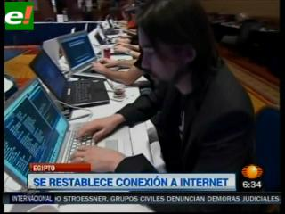 Egipto: se restablece conexión a Internet