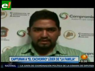 "Capturan a ""El Cachorro"", presunto jefe de La Familia Michoacana"