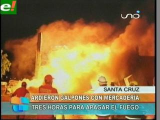 Incendio en depósito de electrodomésticos