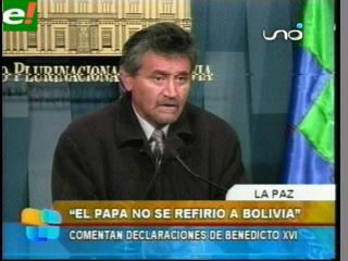 "Canelas: ""El Papa no se refirió a Bolivia"""