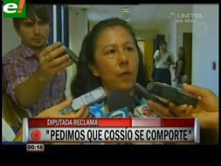 """Diputada paraguaya Aida Robles pide a Mario Cossío """"que deje de joder"""""""