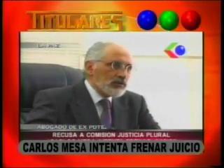 Carlos Mesa intenta frenar juicio