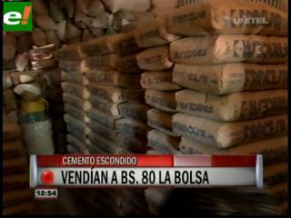 Fiscales descubren y obligan a vender cemento a 55 bolivianos